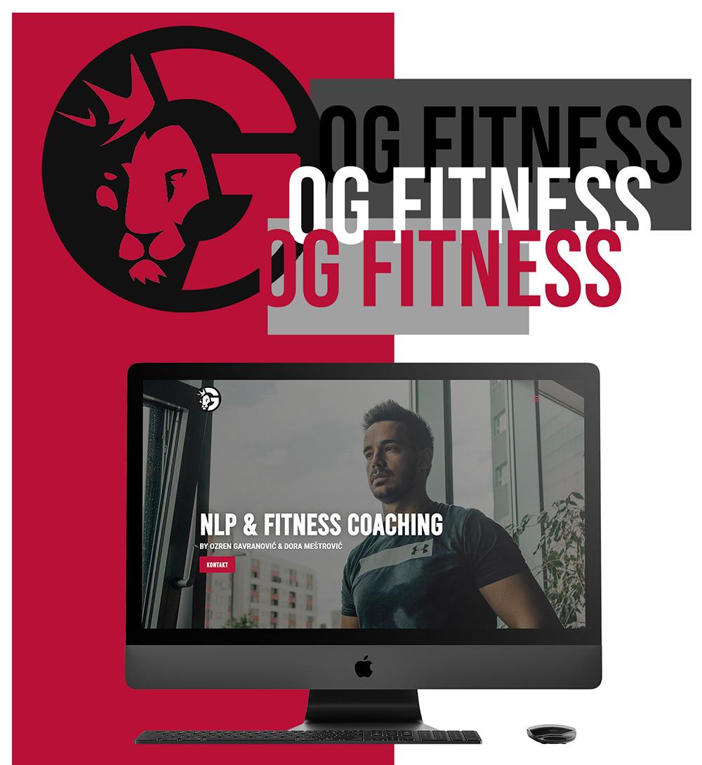 OG Fitness - fitness and gym instructor in Zagreb, Croatia - website, design and branding portfolio